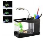 Mini Multi Function Fish Tank Aquarium USB Desktop LED White Lamp Light