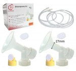 Breast Pump Kit for Medela Pump In Style Advanced Breastpump. Include 2 Breastshields (Replace Medela Personalfit 27mm), 2 Valves, 4 Membranes, and 2 Replacement Tubing for Medela released after July 2006. Replace Medela breastshield, valve, membrane