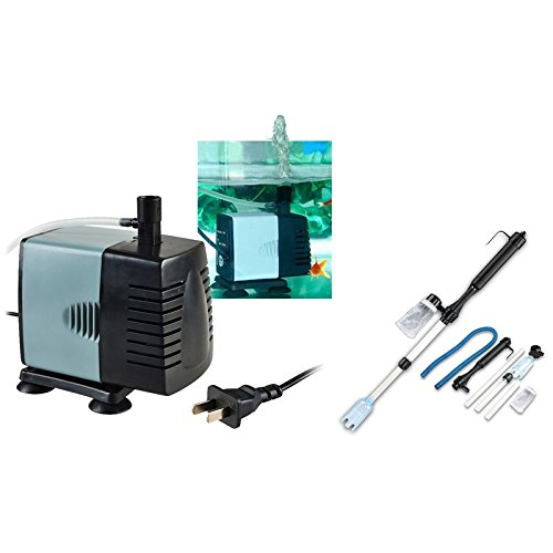 eForCity® 1200L/H Aquarium Fish Tank Submersible Pump with FREE Aquarium Fish Tank Siphon Vacuum Gravel Cleaner Reviews