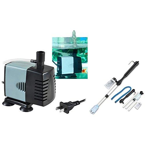 eForCity® 600L/H Aquarium Fish Tank Submersible Pump with FREE Aquarium Fish Tank Siphon Vacuum Gravel Cleaner