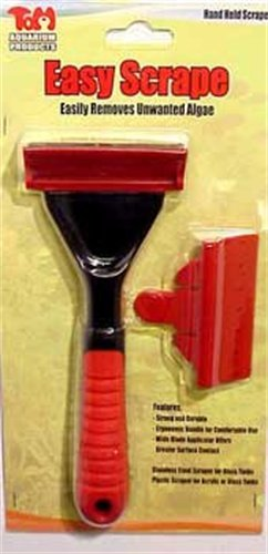 Tom TM1290 Aquarium Maintenance Easy Scrape-Hand Held Algae Scraper