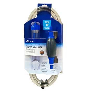 Aqueon 06232 Siphon Vacuum Aquarium Gravel Cleaner with Bulb, 10-Inch by Aqueon [Pet Supplies]
