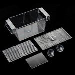 Accreate Aquarium Hatchery Trap Fish Breeding Transparent Plastic Box Tank Fry Breeder Isolation Box