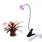 LED Grow Light, Aceple 6W Desk Plant Grow Light with Flexible Gooseneck Arms and Spring Clamp for Hydroponic Indoor Planting, Potted Plants, Garden...
