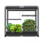 "AeroGarden Farm Plus Hydroponic Garden, 24"" Grow Height, Black"
