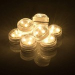 AGPtek® 10PCS LED Submersible Waterproof Round Candle Lights 3 SMD LED high brightness Tea Vase Battery light Pond Pool Bath Outdoor Garden Bar Dis...