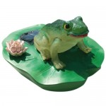 Algreen Products Floating Solar Frog Light for Ponds/Water Features and Gardening