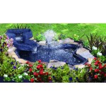 Algreen Products Folding Pond Kit with Streamlet Watercourse, 105-Gallon