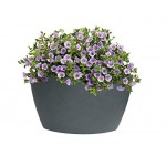 Algreen Products Hampton Contemporary Slate Corner Planter, 35-Gallon