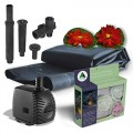 Algreen Products Pond Kit with Solar Lighting, 300-Gallon