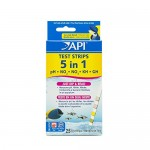 API 5-IN-1 TEST STRIPS Freshwater and Saltwater Aquarium Test Strips 25-Count Box