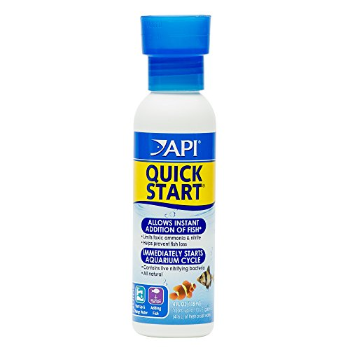 API Quick Start Freshwater and Saltwater Aquarium Nitrifying Bacteria 4-Ounce Bottle