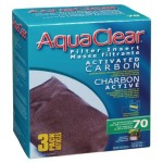 AquaClear A1386 Activated Carbon Insert, 70-Gallon Aquariums, 3-Pack