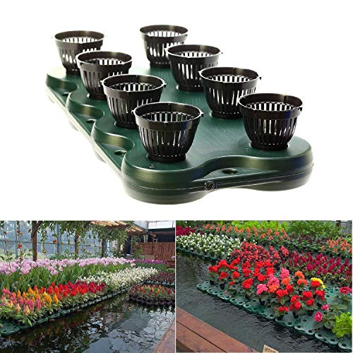 16Plugs /2pcs Aquaponics Floating Pond Planter Basket- Hydroponic Island Gardens