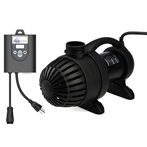 Aquascape 45010 4000-8000 Asynchronous Pump for Ponds, Pondless Waterfalls & Skimmer Filters, 7793 GPH, Black