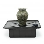 Aquascape 58060 Mini Stacked Slate Urn Fountain Kit, 18.5-Inch, Grey