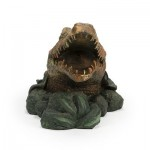 Aquascape Alligator Fountain Spitter for Pond, Container Water Gardens, and Water Features, Poly-Resin | 78208