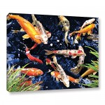 Art Wall 36-Inch by 48-Inch George Zucconi Koi Gallery Wrapped Canvas Art
