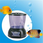 Automatic Pond Feeder, BenchMart Large Capacity (4.25L) Aquarium Fish Feeder, 4 Meals a Day with LCD Display, Electronic Food Dispenser Timer Feede...