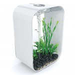 biOrb LIFE 60 Aquarium 45893 with Intelligent LED Light – 16 Gallon, White