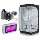 """BloomGrow 300W LED Grow Light+32''X32''X63'' Grow Tent+4"""" Inline Fan Air Filter Ducting Combo for Hydroponic Indoor Plant Growing System Grow Tent ..."""