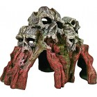 Exotic Environments Skull Mountain Aquarium Ornament, Medium, 9-Inch by 6-Inch by 6-Inch