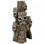 Exotic Environments Skull Mountain Aquarium Ornament, Tall, 5-1/2-Inch by 5-Inch by 10-Inch