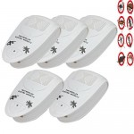 Compia Mosquito Killer⭐5PCS 98 x 60 x 58 mm White Ultrasonic Electronic Indoor Anti Mosquito Rat Mice Pest Bug Control Repeller