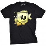 Element Of Gold Goldfish T Shirt Funny AU Periodic Table Science Pet Fish Tee (Black) - 3XL