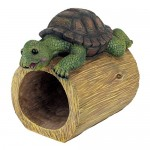 Design Toscano QM2868700 Drips The Turtle Gutter Guardian Downspout Statue