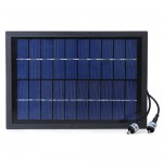 Docooler Solar Power Decorative Fountain Water Pump with 6 LED Spotlight for Garden Pond Pool Water Cycle 10V 5W