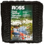 Easy Gardener Edging Ross 16528 30-Footx26-Foot Pond Netting, Black