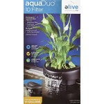 Elive AquaDuo 10 Aquarium Fish Tank Water Filter, Natural Aquaponics or Power Filter for Tanks Up to 10 Gallons, Cartridges and Hydrocorn Included,...