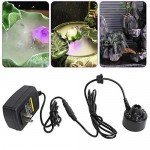 Enshey 12 Color LED Ultrasonic Mist Maker Fogger Atomizer Air Humidifer Water Fountain Pond+Power Adapter Indoor/Outdoor Garden Office Home Room Car