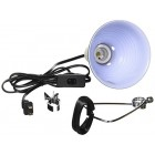 """Fluker's 27002 5.5"""" Repta-Clamp Lamp with Switch for Reptiles"""