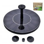 Solar Powered Fountain Pump, FOME Solar Fountain Pump Brushless Bird Bath Fountain Solar Power Water Floating Pump Kit with Different Spray Heads f...