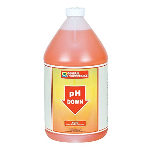 General Hydroponics pH Down Liquid Fertilizer, 1-Gallon