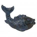 Geo-global Partners Pond Boss SFHB Blue Fish Spitter Fountains