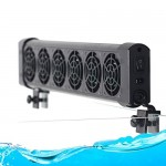 GreenSun LED Lighting Aquarium Fan Chiller Fish Tank Cooling System with AC Adapter (6-Fans)