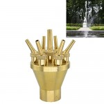 Heimei Brass Lotus Water Fountain Nozzle Spray Sprinkler Head (Brass, DN50)