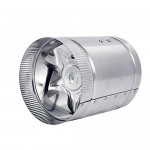 "Hon&Guan 6"" Inline Fan - 240 CFM, Metal Duct Booster Fan, Inline Duct Vent Blower Great For Grow Tent Exhaust and Intake"