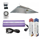 Hydroplanet™ 1000w XXL Open Hood Reflector Set Horticulture Hydroponic 1000W 600W 400W Watt Grow Light Digital Dimmable ballast System for Plants (...
