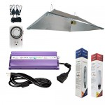 Hydroplanet™ 600w XXL Open Hood Reflector Set Horticulture Hydroponic 1000W 600W 400W Watt Grow Light Digital Dimmable ballast System for Plants (6...