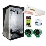 Hydrofarm All-in-One Indoor Tent Grow System, Including Lighthouse 2.0 Controlled Environment 4' x 4' Grow Tent, 315Watt Sunburst CMh 3100K Light S...