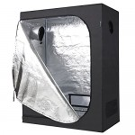 IDAODAN 48x24x60 inch Mylar Hydroponic Indoor Grow Tent for Plant Growing, 600D Waterproof Oxford Cloth,All Steel Structure, Eco-friendly