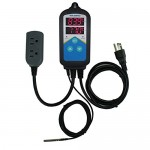 Inkbird ITC-306T Pre-wired Digital Heating Temperature Controller with Day Night Thermostats for Aquarium, Breeding, Seed Germination, Reptiles, Ha...