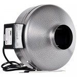 iPower 8 Inch 750 CFM Duct Inline Fan Vent Blower for Exhaust and Intake, Grounded Power Cord