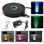 KAPATA Fish Tank Light Underwater Air Bubble Color Changing LED Air Stone for Aquarium Fish Tank Decoration