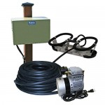 Kasco Marine RA1-PM Robust-Aire Diffused Aeration System with KM-60 Compressor and 1 Diffuser, Post Mount Cabinet