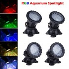 Lemonbest® New 36 LED Colorful Submersible Underwater Aquarium Spot Light for Water Garden Pond Fish tank (Set of 4 lights)